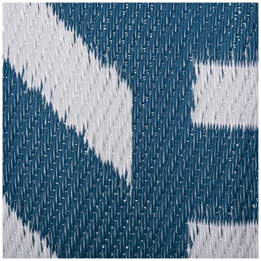 Garden and Outdoor DII Outdoor Rugs Collection Reversible Woven, 5′ Round, Blue Geometric outdoor rugs