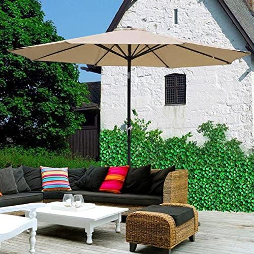 AMPERSAND SHOPS 9 Tilt Outdoor Patio Umbrella Furniture Tan