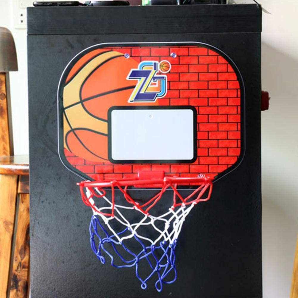 Indoor Outdoor Children Basketball Playing Toy Birthday Gift chlius Mini Basketball Hoop Wall-Mounted Basketball Backboard Install On A Wall Or Door With Ball Basketball Frame Net And Pump