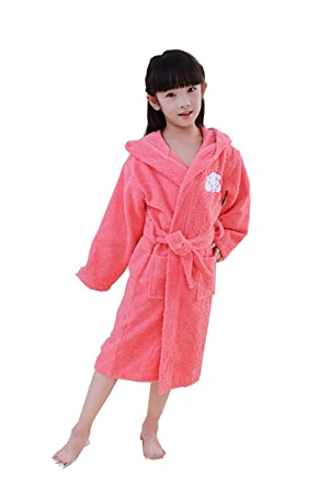 100 Cotton Terry Towel Bath Robe Children Dressing Gown Hooded