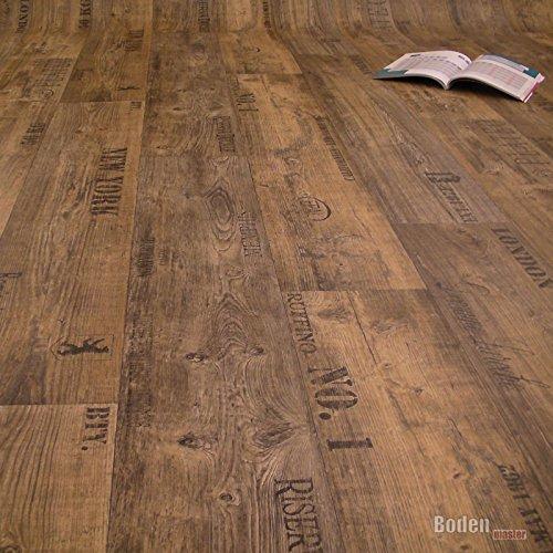PVC Bodenbelag Rustikal Dunkel mit Aufdruck Breite 4 m (9,95 € p. m²)