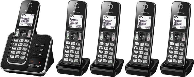 Panasonic kx-tgd325eb Quintet Digital Inalámbrico Teléfono con contestador automático: Amazon.es: Electrónica