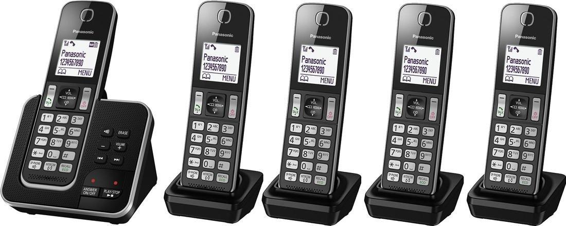 Panasonic kx tgd323eb cordless home phone with nuisance amazon panasonic kx tgd323eb cordless home phone with nuisance amazon electronics sciox Choice Image