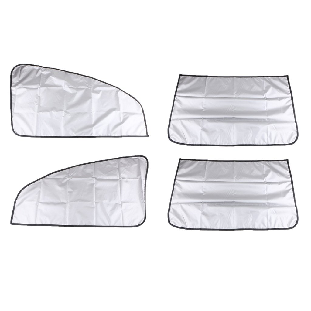 Sharplace 2 Pairs Magnetic Adsorption Car Sunscreen Shade Protector Curtains