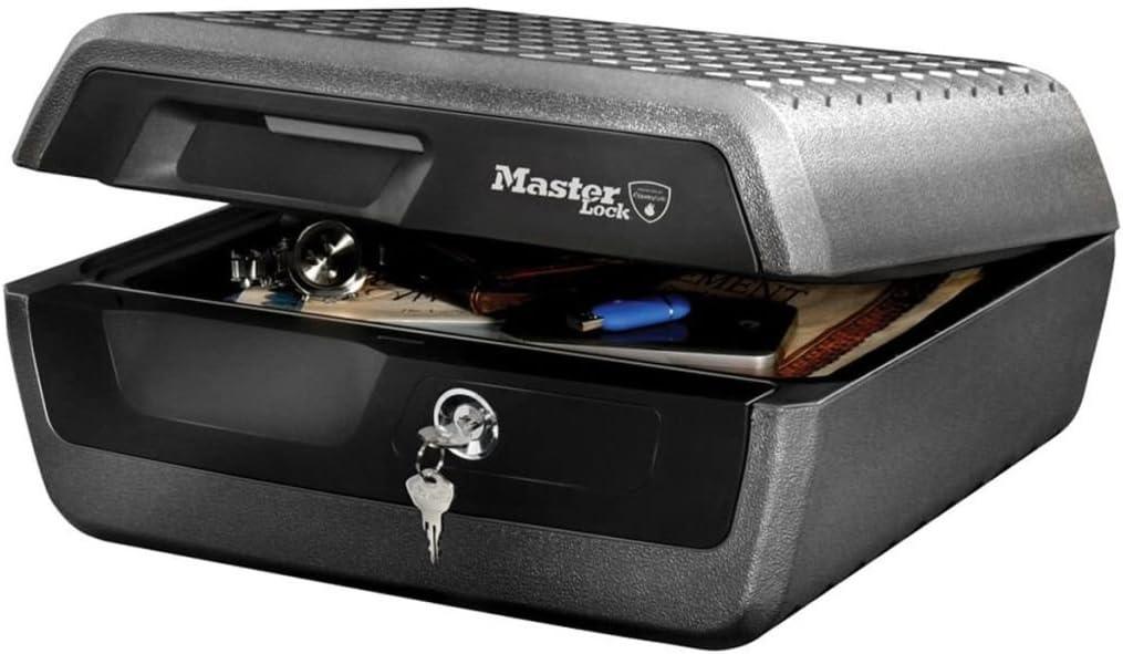 Master Lock LCFW30100 Caja Fuerte Portatil Ignifuga y Impermeable con Llave Large Adecuada para A4 Documentos, Dispositivos Electrónicos, Soporte Multimedia, Pequeños: Amazon.es: Bricolaje y herramientas