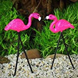 Miniature Garden Retro Flamingo Pair Fairy Faerie Hobbit Gnome Garden GO 16813 - My Mini Fairy Garden Dollhouse Accessories for Outdoor or House Decor