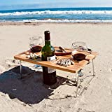 Tirrinia Outdoor Wine Picnic Table, Folding