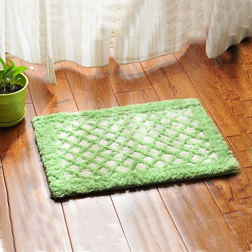 Bathroom mats door mats bedroom hallway absorbent mats anti-skid mats for bathroom and kitchen -3550cm Green Plaid by ZYZX