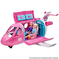 Barbie Dreamplane Transforming Playset with Reclining Seats and Working Overhead...