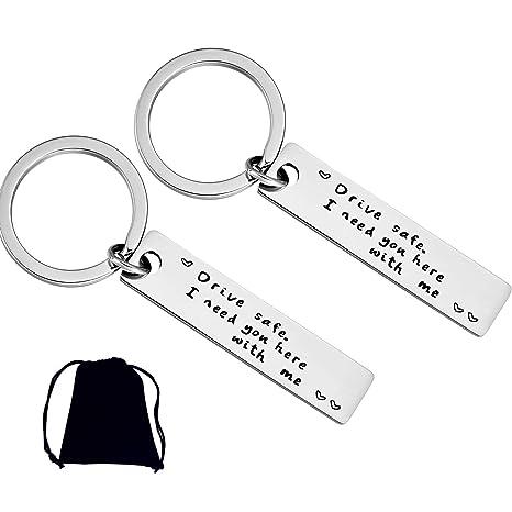 Amazon.com: Dofilachy 2 Pack Drive Safe Keychains Keychain ...