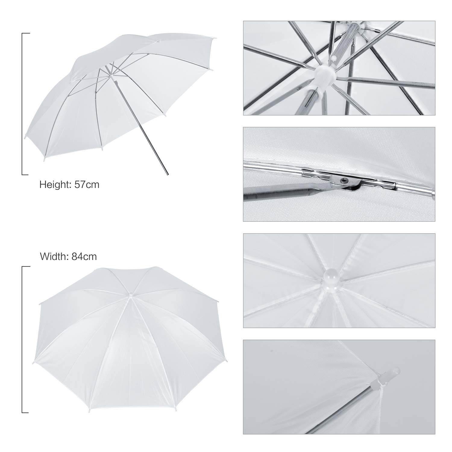 Umbrellas Softbox Continuous Lighting Kit for Photo Studio Product,Portrait and Video Shoot Photography SH 2.6M x 3M//8.5ft x 10ft Background Support System and 4 x 85W 5500K Bulbs
