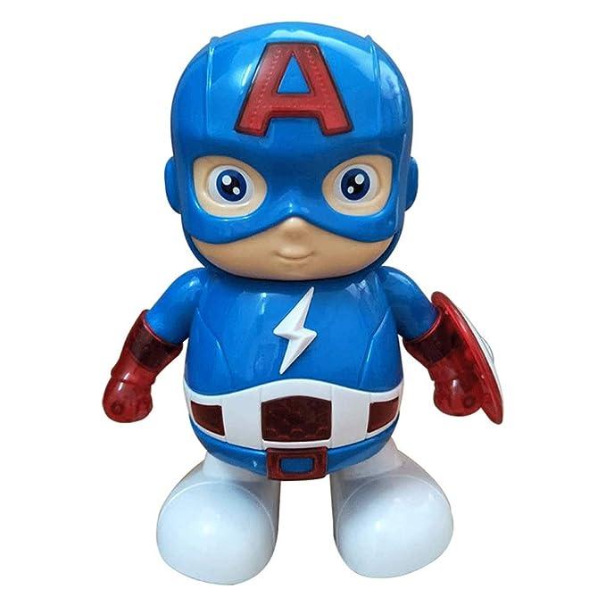 Color : Red Dancing Robot Light Music Electric Toys Fting Iron Man Colecci/ón Modelo Adornos Regalo de cumplea/ños Marvel Avengers 4