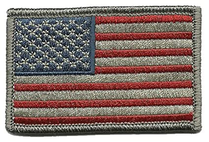 Amazon.com  Tactical USA Flag Patch - Subdued Silver USA by Gadsden ... 8aaa30d1206