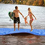 Max4out Floating Mat Foam Pad 18' X 6' for Lake Pool On Beach Water (Blue)