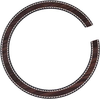 Mxfan B-23 - Roseta para guitarra acústica (madera de palisandro ...