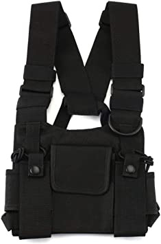 ForceSthrength Portable Radio Chest Harness Chest Front Pack Pouch Holster Vest Rig Chest Bag: Amazon.es: Bricolaje y herramientas