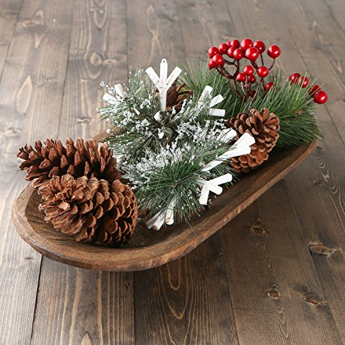Factory Direct Craft Snowflakes, Pine Sprigs, Berries and Pinecones - Christmas Holiday Decorating Kit Decorating The Table For Christmas