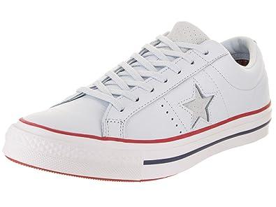 584d9a8f6cc Converse Chucks 160626C Blue One Star OX Blue Tint Gym Red White ...