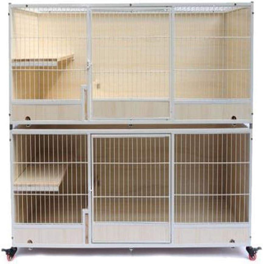 HXSD 無垢材の猫ケージ猫ケージ猫家の猫ケージを繁殖ケージ猫を繁殖 (サイズ : B-160*65*130)