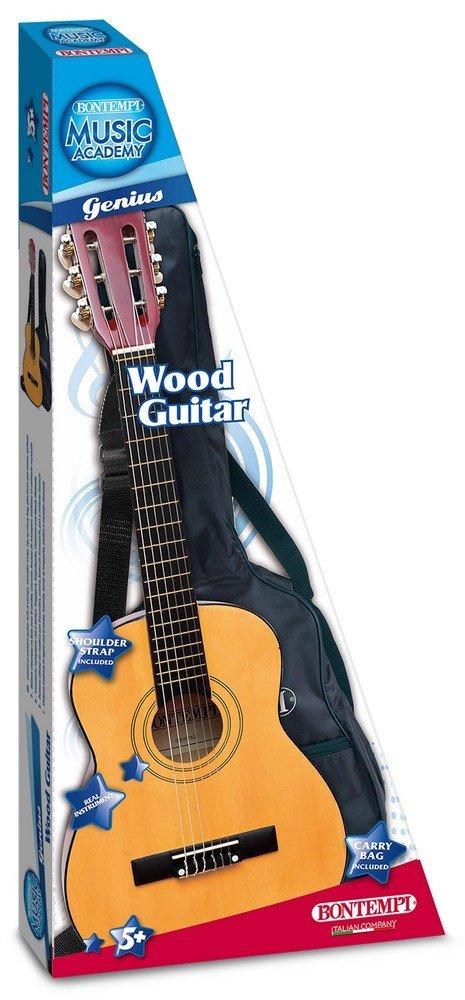Bontempi - GSW 75,2 / b - Guitarra de Madera con Cubierta Protectora, Transporte - 75 Cm: Amazon.es: Juguetes y juegos