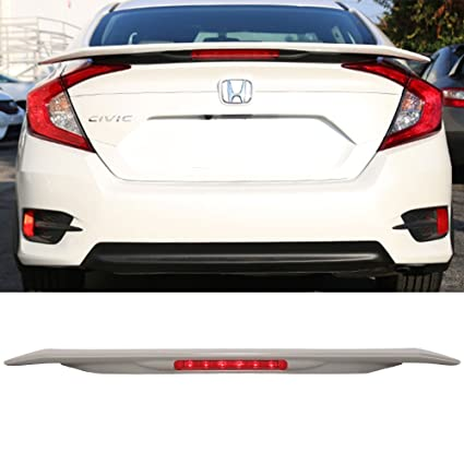 Trunk Spoiler With 3RD LED Brake Light Fits 2016 2018 Honda Civic | JDM RS