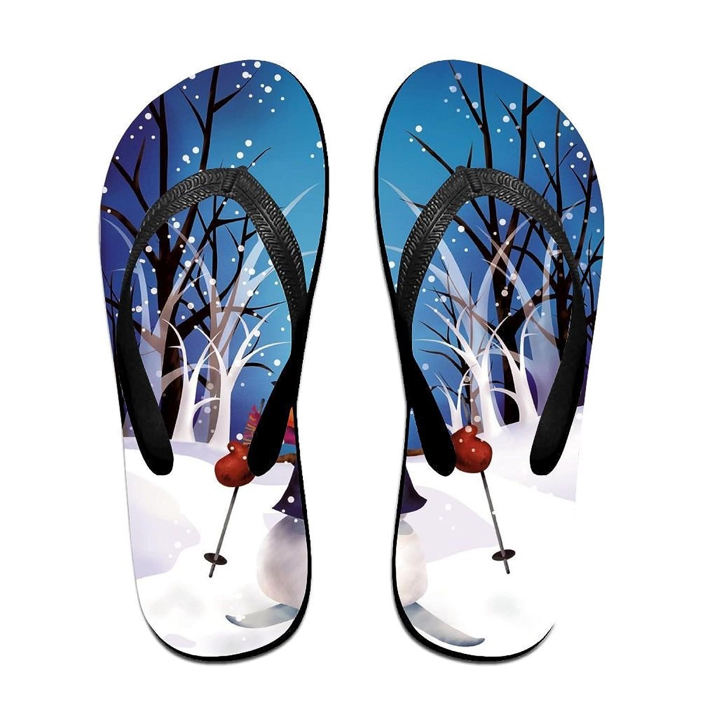 Creative Snowman For Winter Christmas Unisex Fashion Beach Flip Flops Sandals Slippers Sandal For Home & Beach