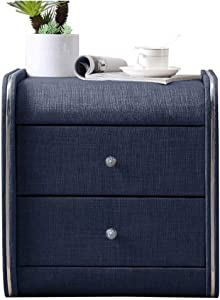 Furniture Special Design - Nightstand,Bedside Table Fabric-Nightstand Drawer Locker Decorative Display Cabinet Table (Color : Blue)