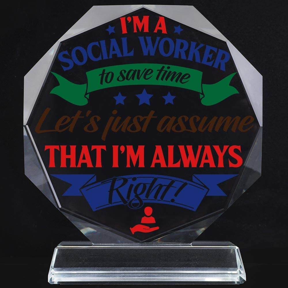 Plaques Men Supervisor Social Worker Gifts Christmas Paperweight For Women Student Keepsake Office Plate