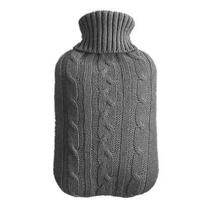 TREESTAR cubierta de la botella de agua caliente tejida ...