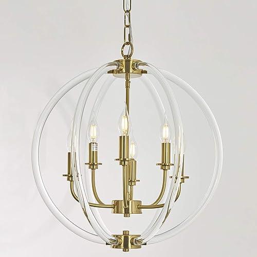 Cheap 6 Llight Globe Pendant Light Modern Chandelier living room chandelier for sale