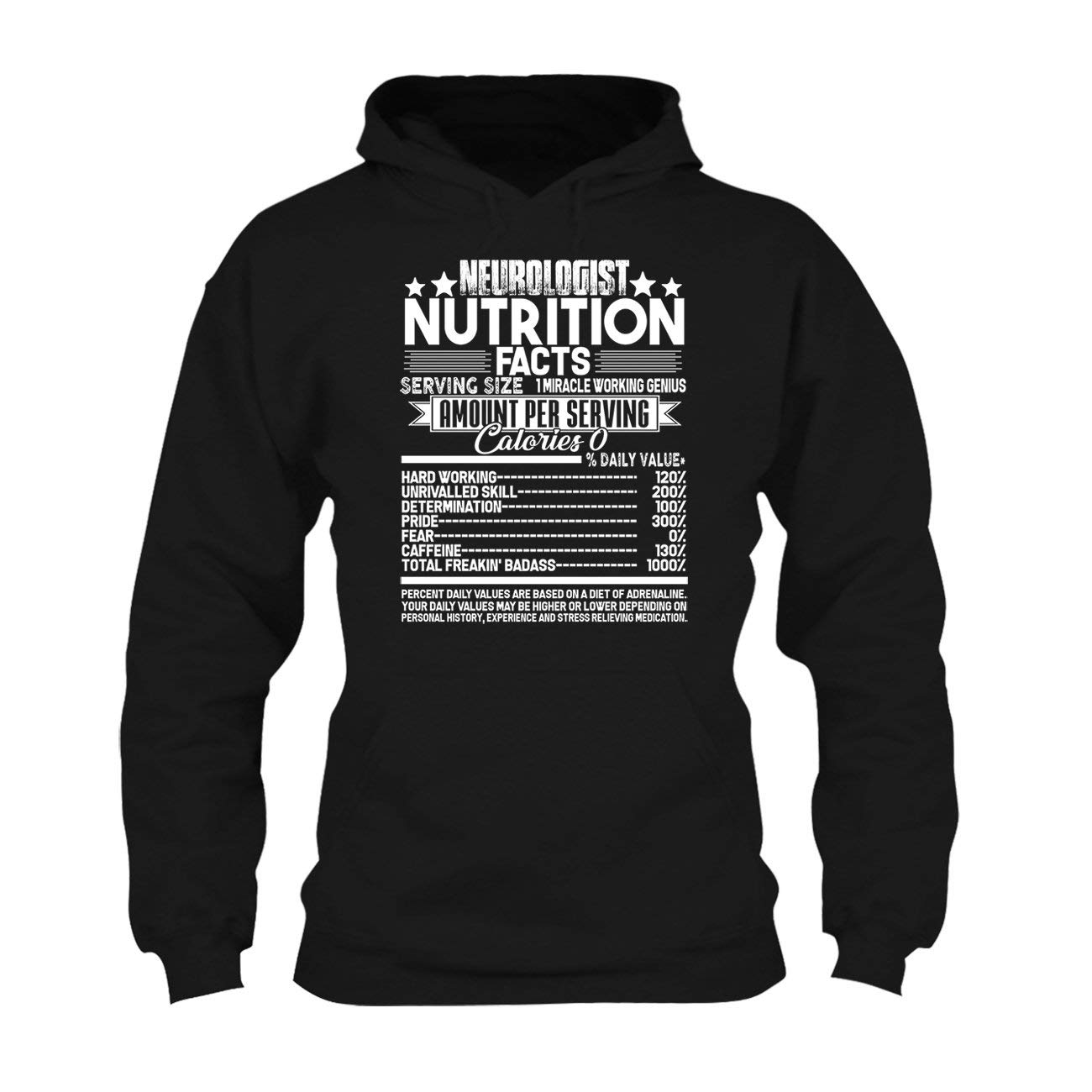 Short Sleeve Tshirt SeeSnow Neurologist Nutrition Facts T Shirt