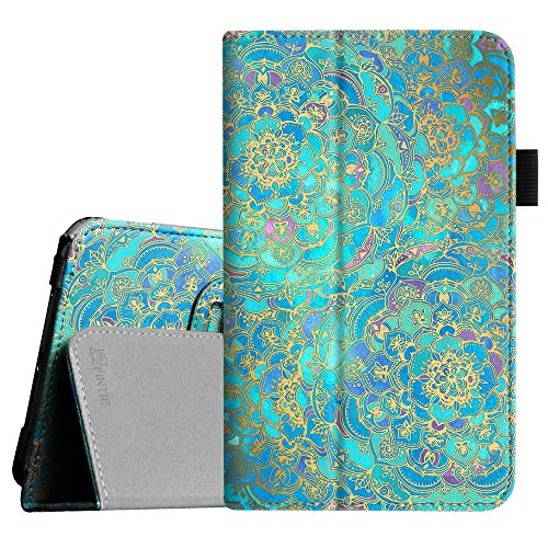 Fintie Folio Case for Samsung Galaxy Tab E Lite 7.0 - Slim Fit Folio Stand Leather Cover for Galaxy Tab E Lite SM-T113/Tab 3 Lite 7.0 SM-T110/SM-T111 7-Inch Tablet, Shades of Blue