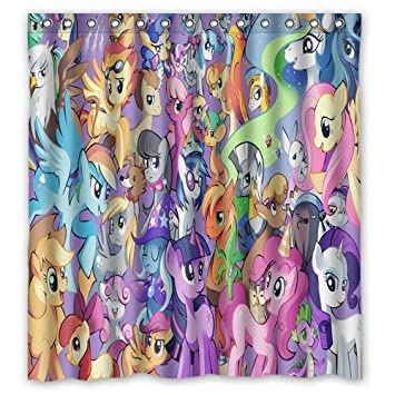 Scottshop Custom My Little Pony Shower Curtain High Quality Waterproof Polyester Fabric Bathroom Curtains 66quot