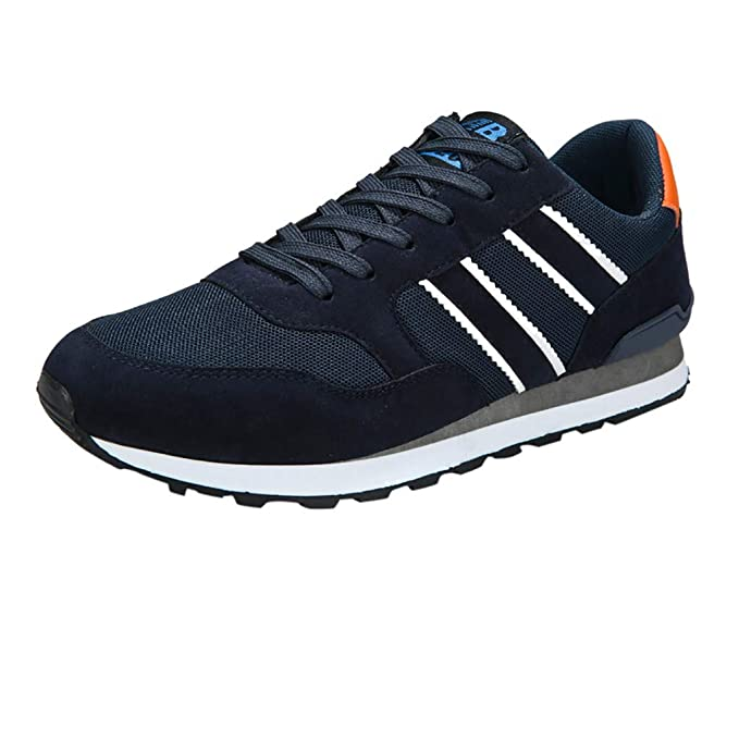 beautyjourney Zapatillas de Tela para Hombre Zapatos Planos Casuales de Cordones Transpirables Zapatillas de Deporte para Estudiantes: Amazon.es: Ropa y ...