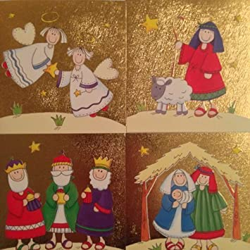 Religious Christmas Cards For Children.20 Cute Religious Nativity Christmas Xmas Cards 4