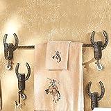 Cowboy Spur Western Towel Bar   Rustic Bath Decor