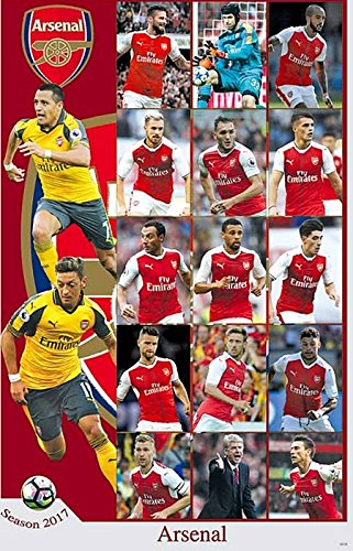O-88128 Arsenal 2016/2017 Team Football,soccer Poster - Rare New - Image Print (Football Soccer Poster)