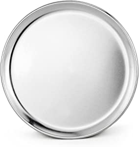 New Star Foodservice 50806 Pizza Pan/Tray, Coupe Style, Aluminum, 10 inch