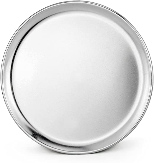 Pack of 6 New Star Foodservice 51025 Pizza Pan//Tray Coupe Style 12 inch Aluminum