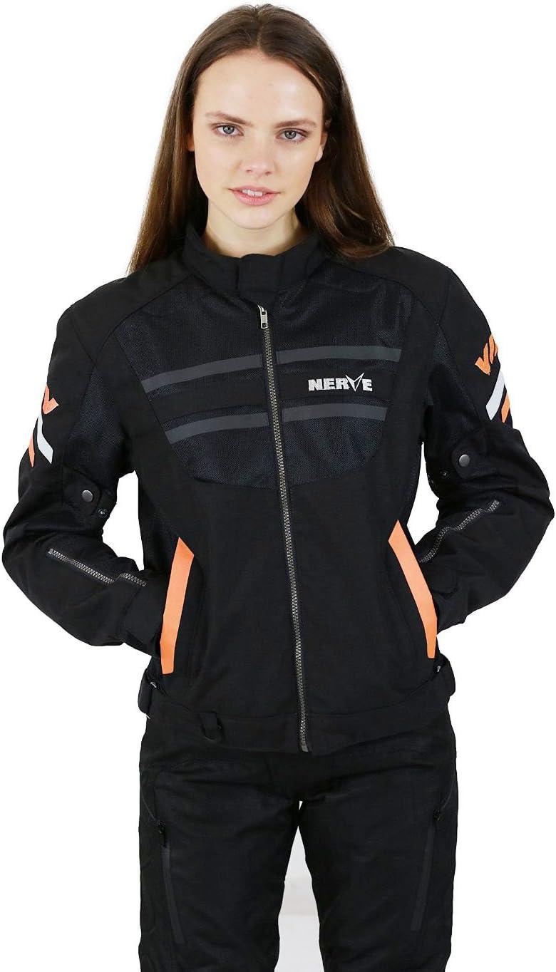 NERVE 15110710209/_06 Giacca Moto Estiva Cool Slight Nero//Arancione XXL