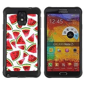 Suave TPU Caso Carcasa de Caucho Funda para Samsung Note 3 / Watercolor White Fruit Red / STRONG