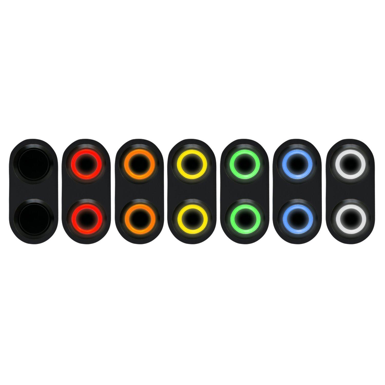 Single Switch Keep It Clean 18620 Daytona Black Switch with Blue LED Illumination