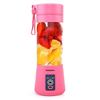 Tenswall mini pink battery-powered blender