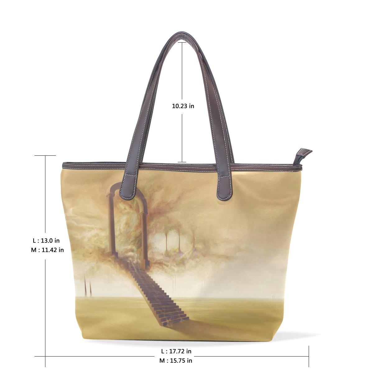 Mr.Weng Household Stairway To Heaven Lady Handbag Tote Bag Zipper Shoulder Bag