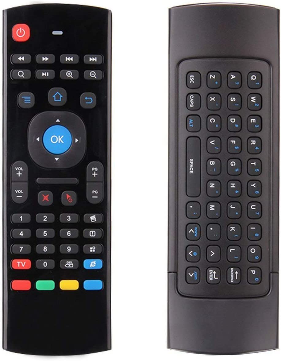 1 Set 2.4G Mini Wireless Remote Control Full Keyboard /& TV Remote Mouse with USB Receiver for Android TV Box Mini PC