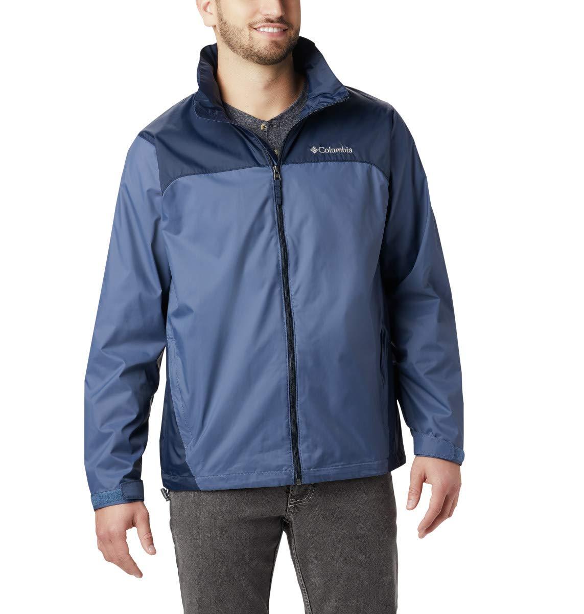 Columbia Men's Glennaker Lake Rain Jacket, Dark Mountain/Collegiate Navy, X-Large by Columbia