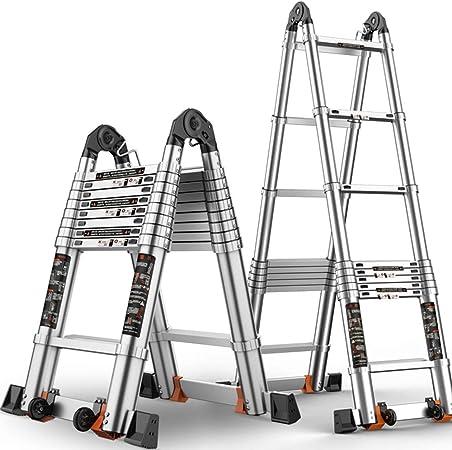 ZR- Escalera Telescópica, Escalera Plegable Aleación Aluminio, Levantando Escaleras Escalera Ingenieria Multifuncional Portátil, Multi-estilo -Fácil de almacenar y fácil de llevar: Amazon.es: Hogar