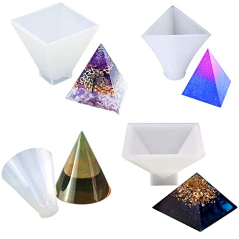 Silicone Diamond Cone Mold Making Jewelry Pendant Resin Casting Mould Craft LP