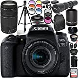 Canon EOS 77D DSLR Camera with 18-55mm Lens and 75-300mm f/4-5.6 III Lens 20PC Accessory Bundle - International Version (No Warranty)