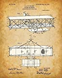 Original Wright Brothers Patent Art Prints - Set of Four Photos (8x10) Unframed - Great Gift for Pilots